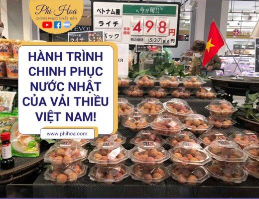Vải thiều Việt Nam chinh phục Nhật Bản